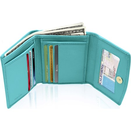 f4bcd731eabf Small Trifold Wallets For Women - Credit Card Holder With Coin Purse RFID  Blocking Gifts For Her