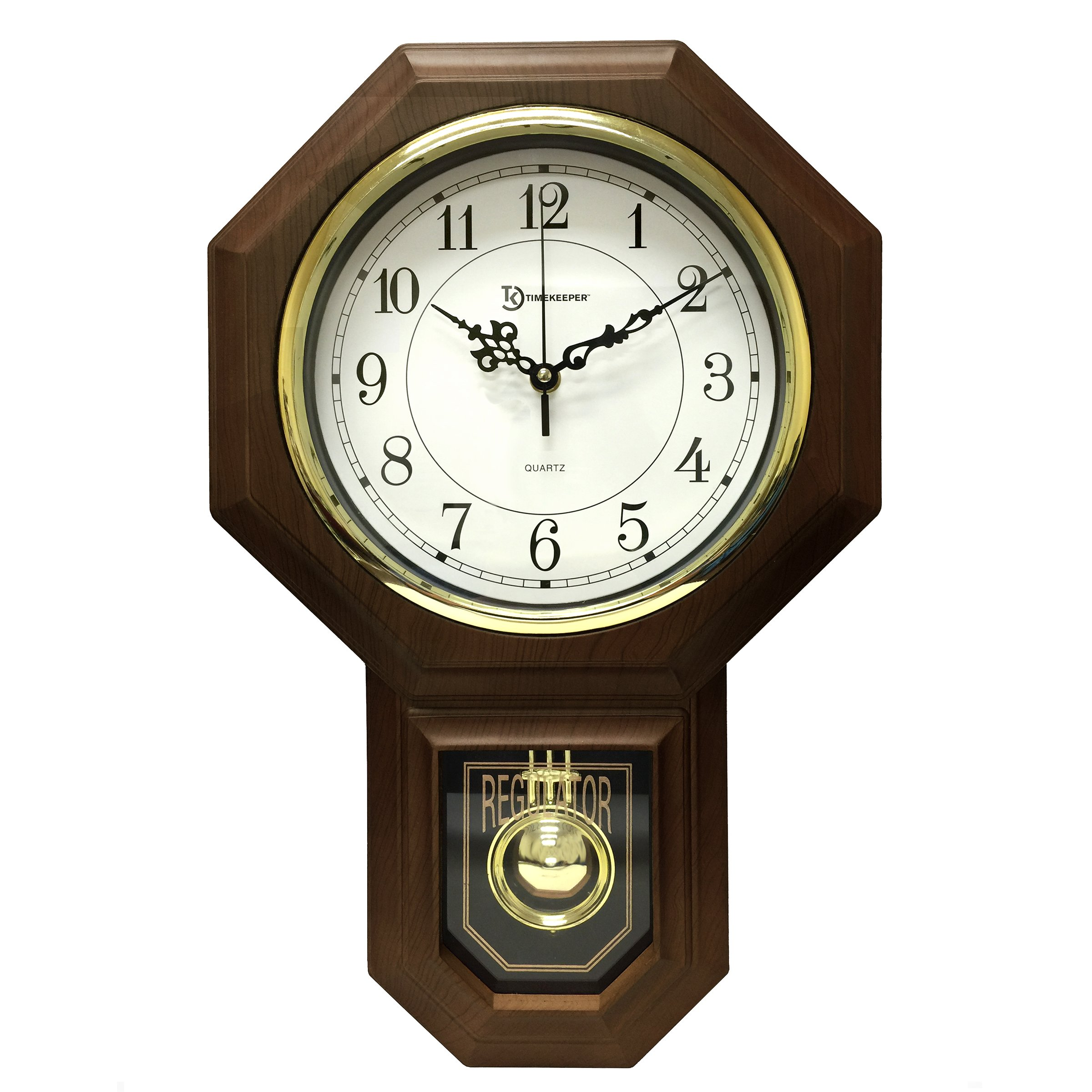 "Artistic Products 180WAGM Timekeeper 180wagm Essex[r] 18.75"" Modern Pendulum Wall Clock [faux Wood]"