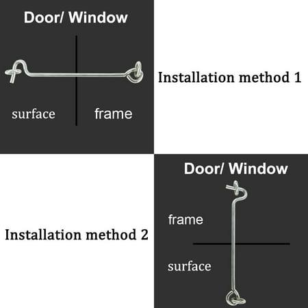 """2"""" Cabin Hook Eye Latch Gate Door Swivel Window Door Hook with Mounting Screws 20pcs - image 1 of 5"""