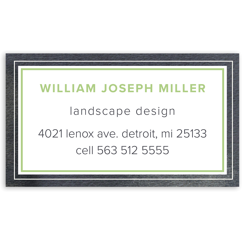 Graceful Script - Personalized 3.5 x 2 Business Card