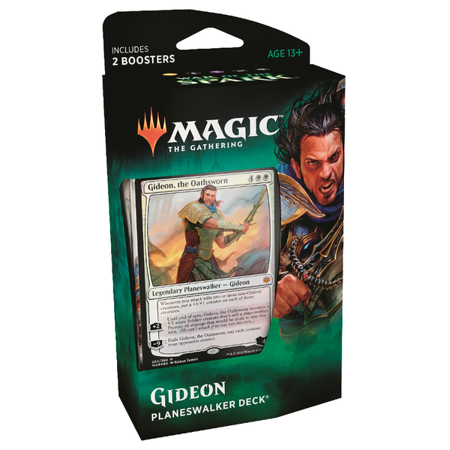 Magic: The Gathering War of the Spark Planeswalker Deck- Gideon - 1 Planeswalker Trading Card | 60 Cards + 2 Booster