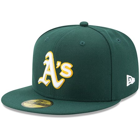 quality design 57cb4 d6704 Oakland Athletics New Era Youth Authentic Collection On-Field Road 59FIFTY  Fitted Hat - Green - Walmart.com