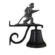 Montague Metal Products CB-1-91-SI Cast Bell With Swedish Iron Fireman Weathervane Ornament