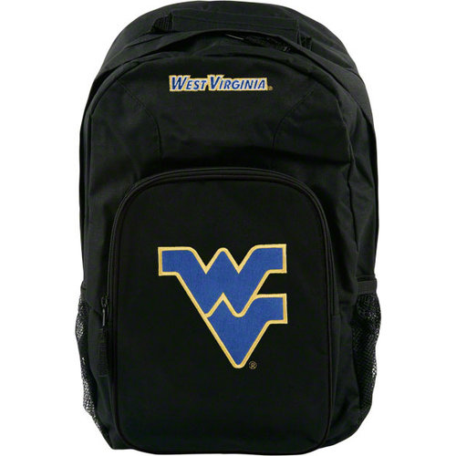 NCAA - West Virginia Mountaineers Black Youth Southpaw Backpack