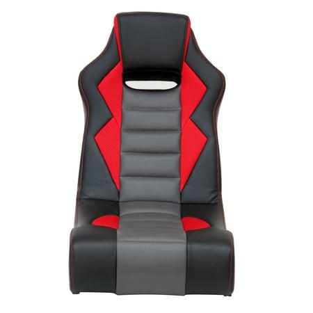 X Rocker Flash 2.0 Wired Gaming Chair Rocker, Black/Red