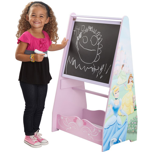 Disney - Princess Standing Art Easel with Chalkboard and Wipeboard