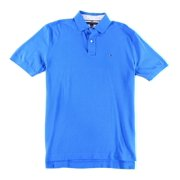 Tommy Hilfiger NEW Solid Blue Mens Size Small S Pull-Over Polo Shirt