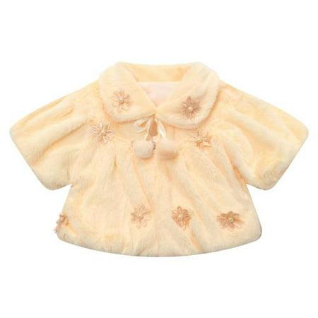 Little Girls Rose Delicate Flowers Early Winter Waistcoat 4/5 (Classic Waistcoat)