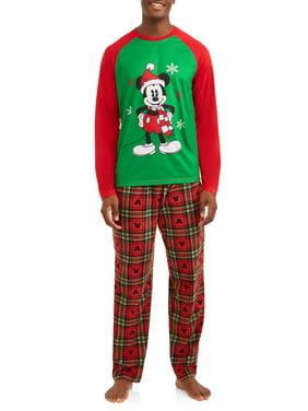 product image disney mickey mouse holiday family sleep pajamas 2 piece set mens