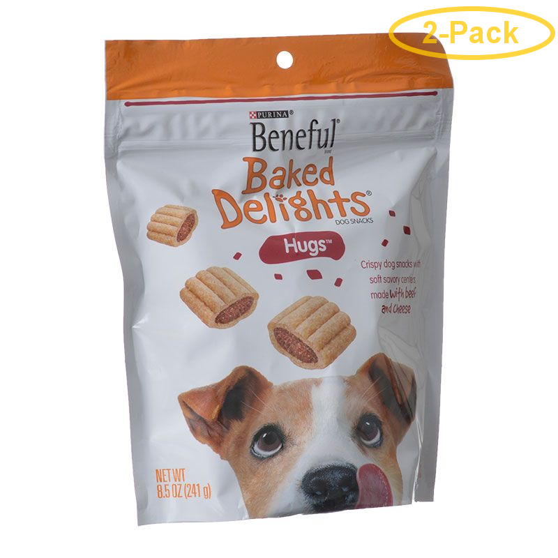 Purina Beneful Baked Delights Hugs - Beef & Cheese 8.5 oz - Pack of 2