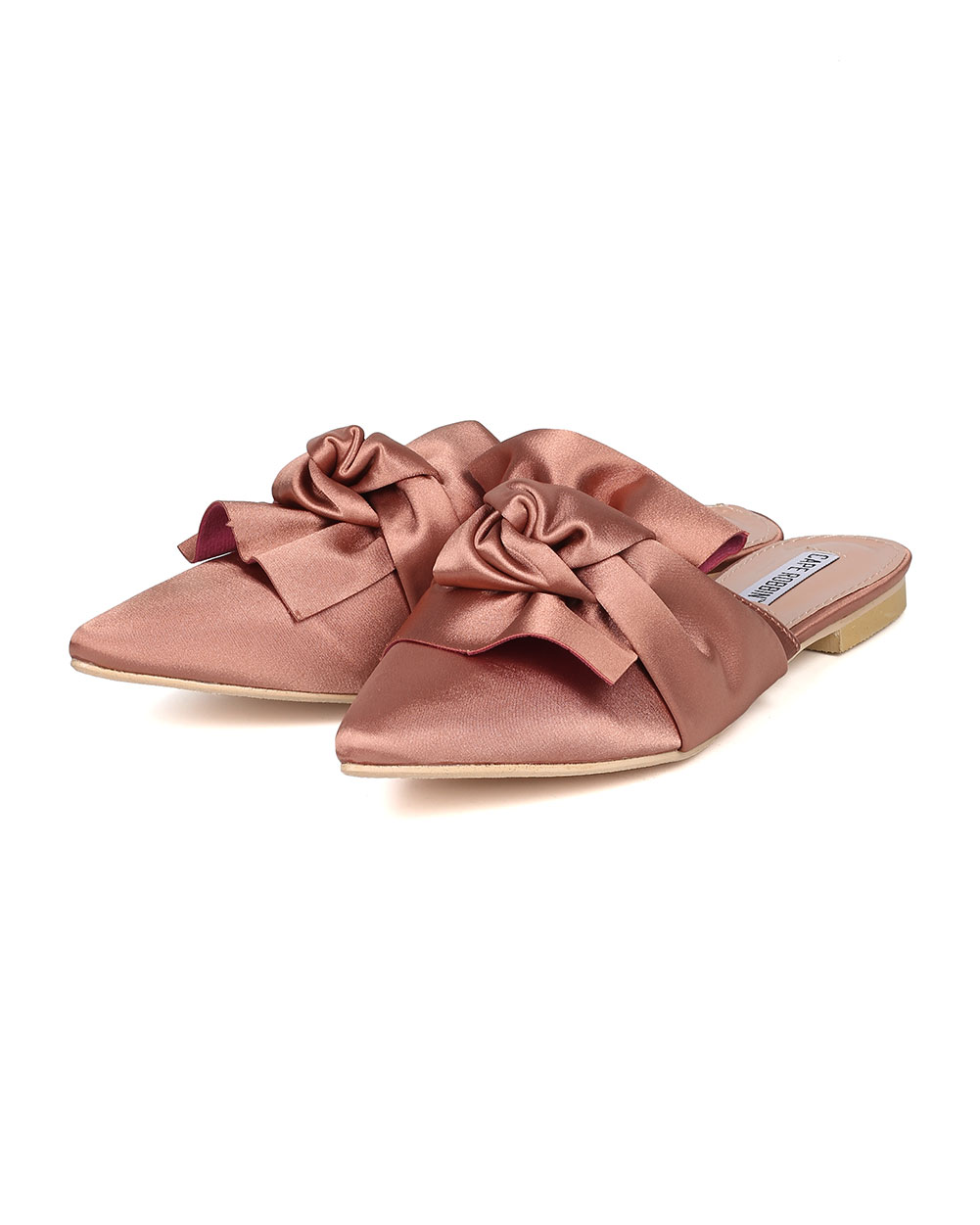 70c7162976f1 Cape Robbin - Women Knotted Flat Mule - Bow Slip On Sandal - Pointy Toe  Slide - HK09 By Cape Robbin - Walmart.com
