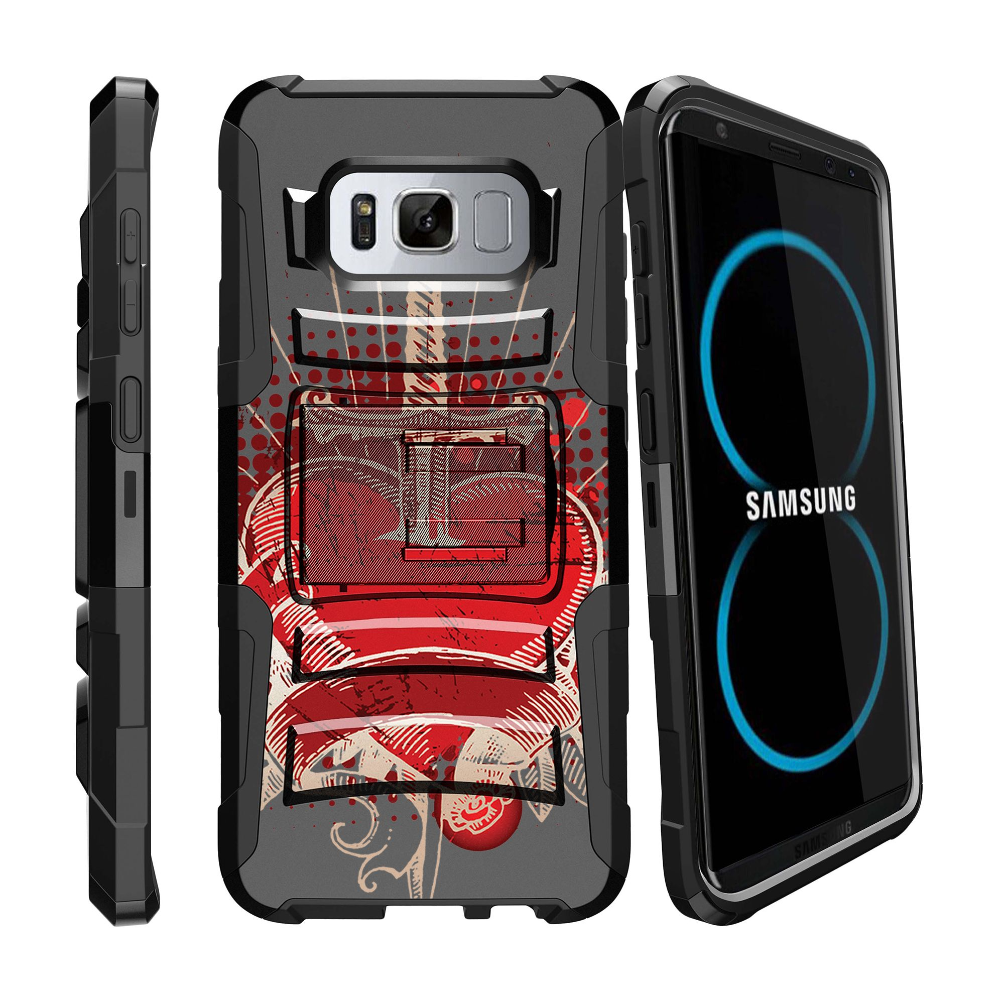 Case for Samsung Galaxy S8 Plus | S8 Plus Case  [ Clip Armor ] Heavy Duty Case with Belt Clip & Kickstand Unique Designs Series