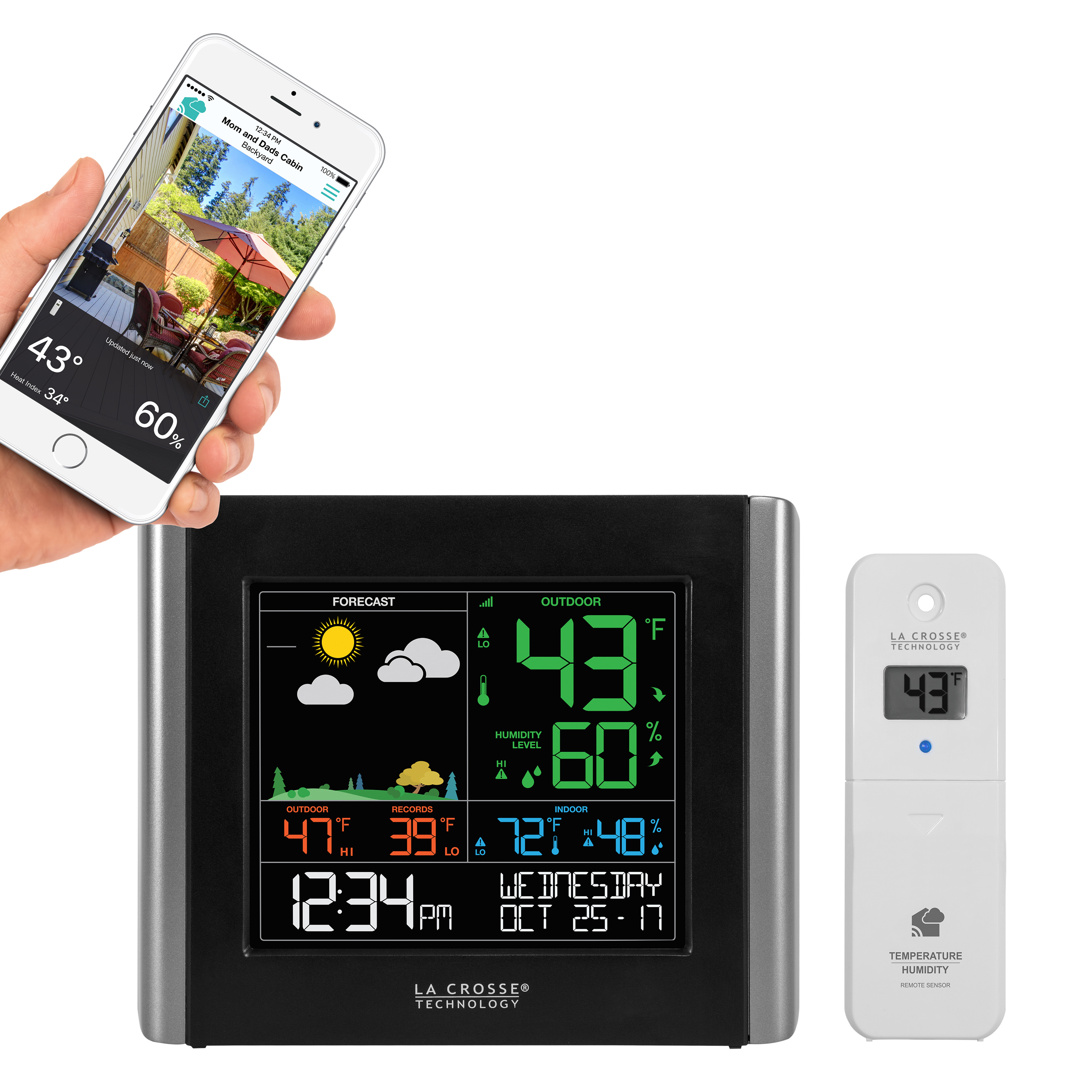 La Crosse Technology V10-TH Color Wireless WIFI Essential Weather Station