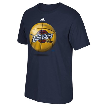 Cleveland Cavaliers Adidas Nba   Logo Ball   Premium Print S S Mens T Shirt