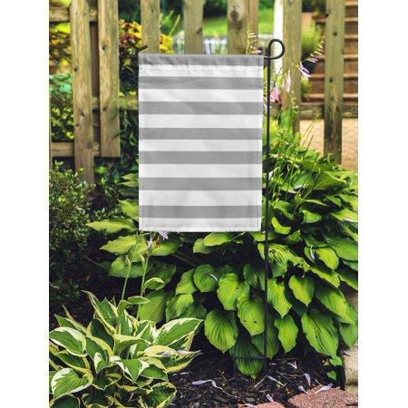 POGLIP White Pale Grey Stripes Bright Classic Digital Geometric Graphic Grid Garden Flag Decorative Flag House Banner 28x40 inch - image 1 de 2