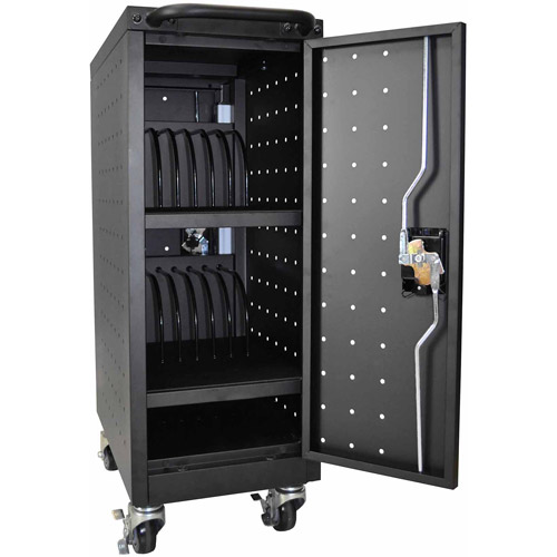 "Luxor 16 Tablet/Chromebook Charging Cart, 34""H x 12.12""W x 20.25""D"