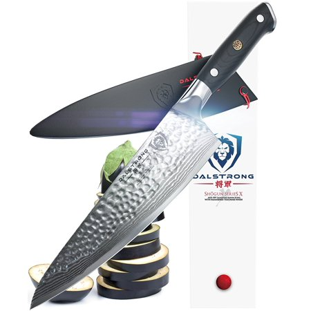 DALSTRONG Chef's Knife - Shogun Series X Gyuto - Japanese AUS-10V - Vacuum Treated - Hammered Finish - 8