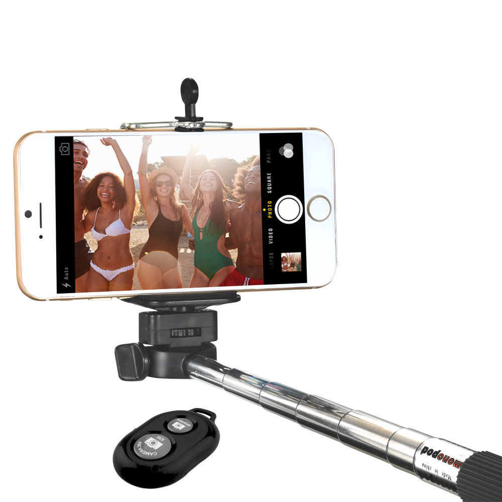 Minisuit Selfie Stick with Bluetooth Remote for Apple & Android Phones - Black