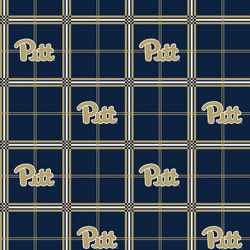 University of Pittsburgh Flannel Fabric-Sold by the yard
