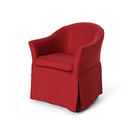 Gordman Accent Chairs.Gordon Traditional Accent Chair With Skirt Red And Dark Brown