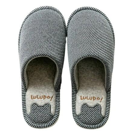 New Arrival Comfortable Men S Classic Leather Slippers Indoor Slippers Non Slip Warm Flat Heel Indoor Bedroom Slippers Walmart Canada