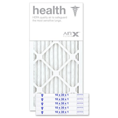 AIRx Filters Health 10x30x1 Air Filter MERV 13 AC Furnace Pleated Air Filter Replacement Box of 12, Made in the USA