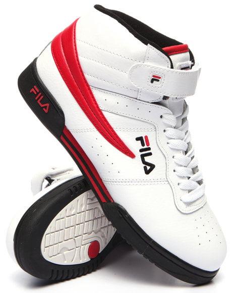 Fila 1VF059LX-122: Men's White/Black/Red F-13 Sneaker
