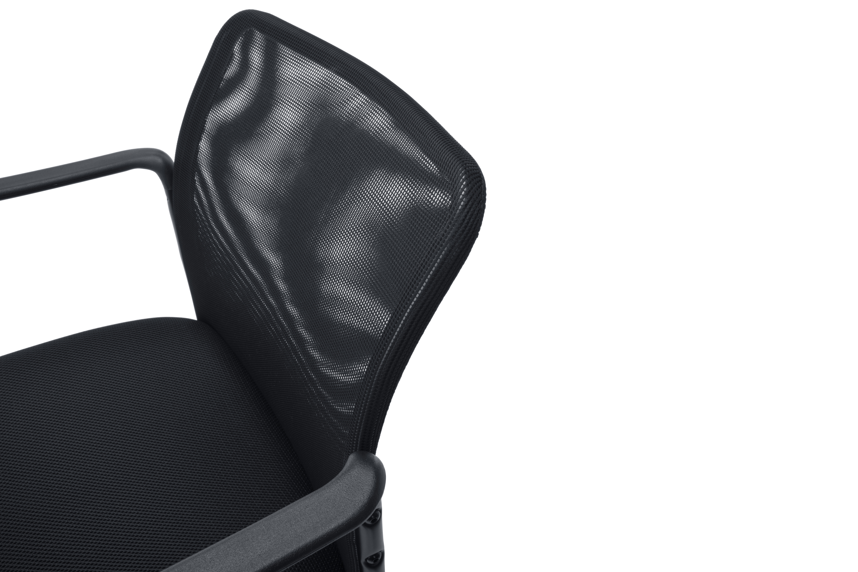 Essentials by OFM ESS 8010 Mesh Back Upholstered Side Chair with