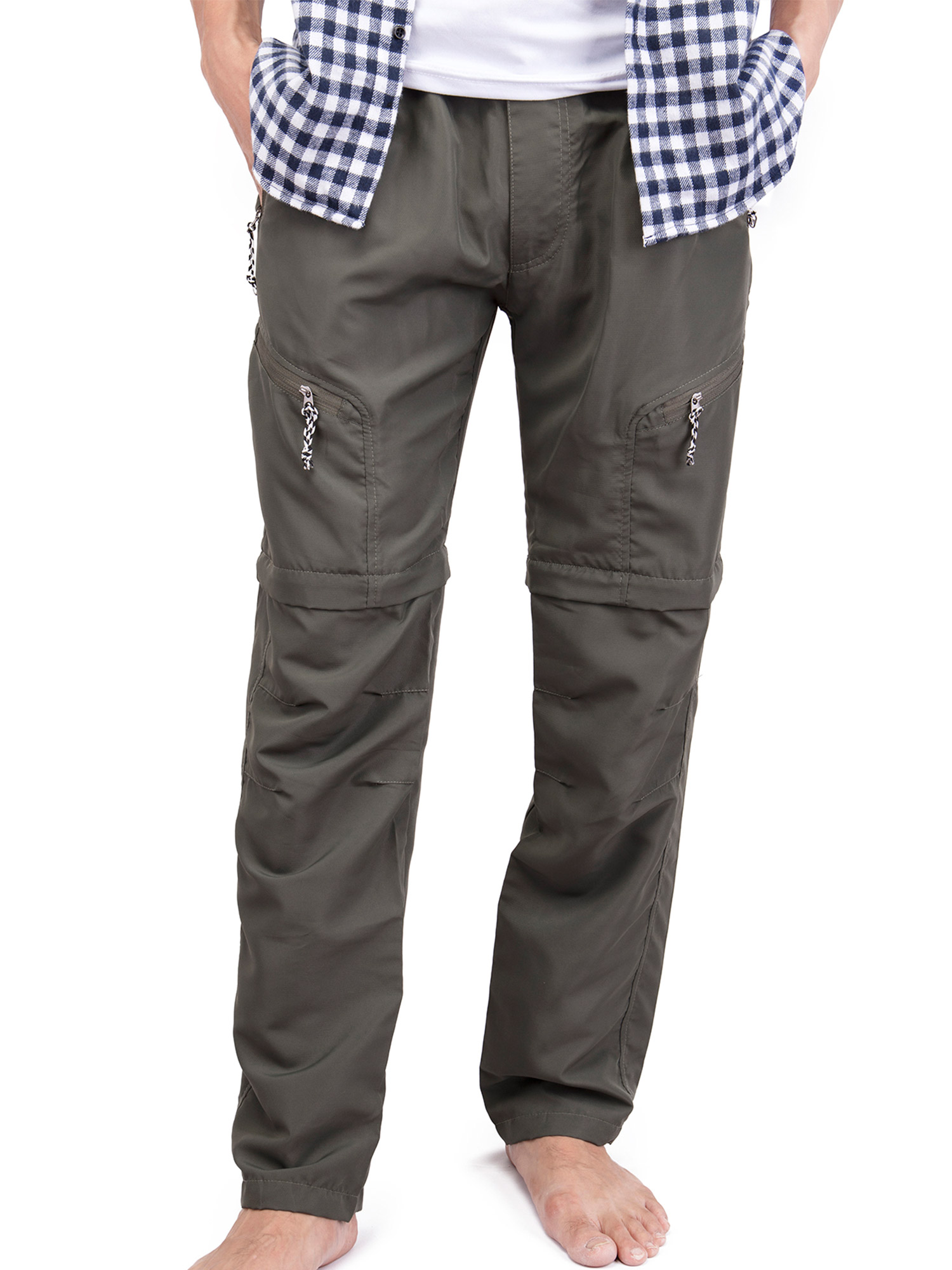SAYFUT Men's Outdoor Anytime Quick Dry Convertible Lightweight Hiking Fishing Zip Off Cargo Work Pant