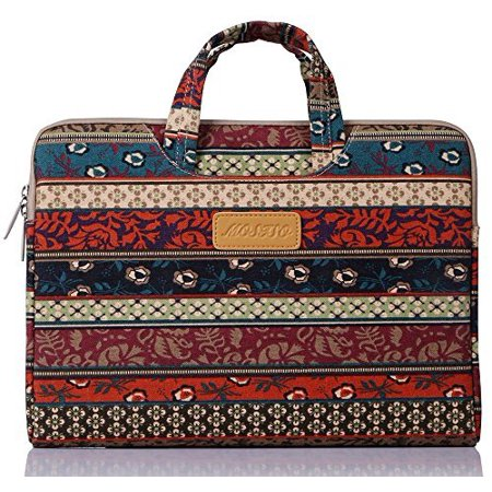 Laptop Briefcase, Bohemian Canvas Fabric 11-11.6 Inch Carry Case Sleeve for Acer Chromebook 11 / HP Stream 11 / Samsung Chromebook 2 / Notebook Computer / MacBook Air, Mystic