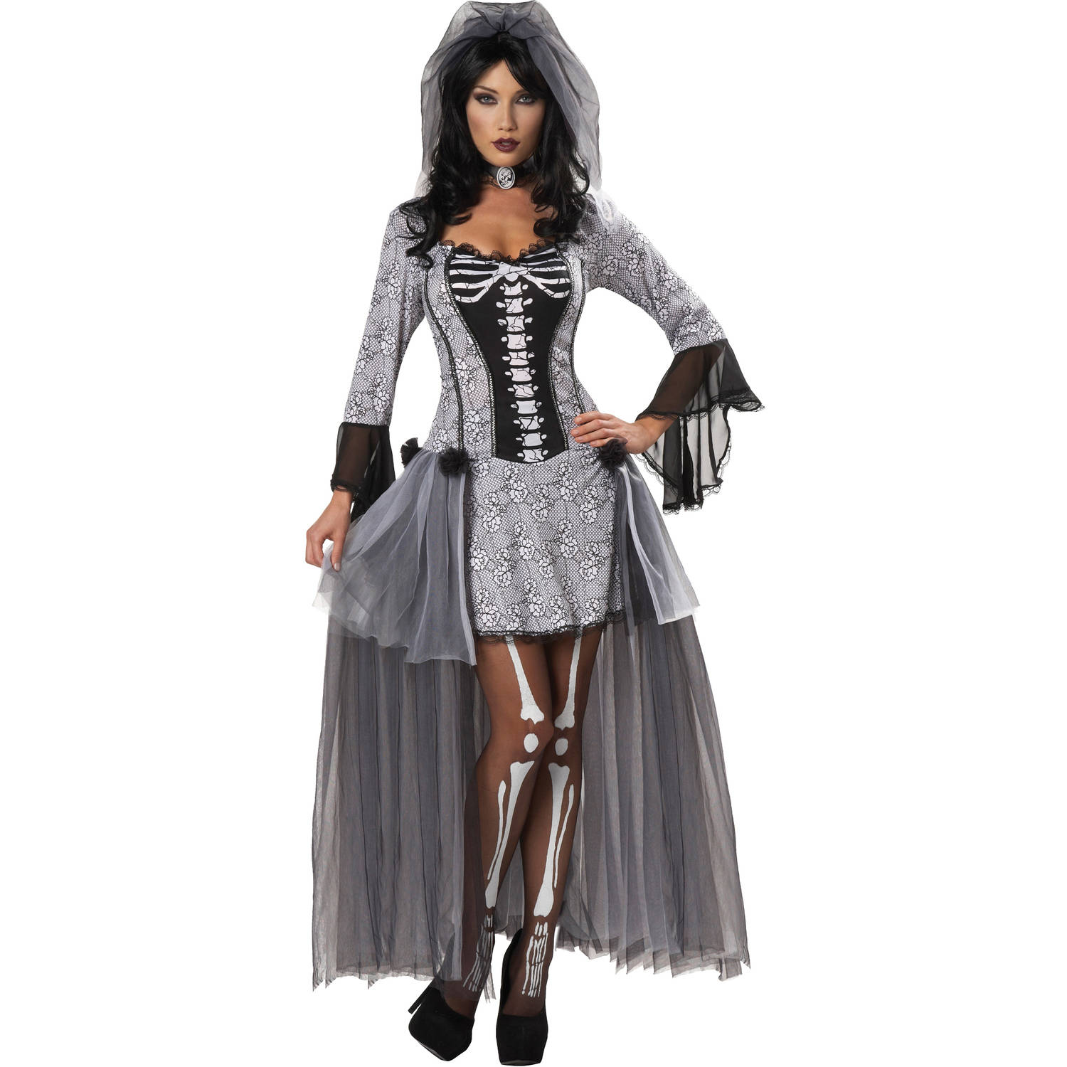Skeleton Bride Women's Adult Halloween Costume