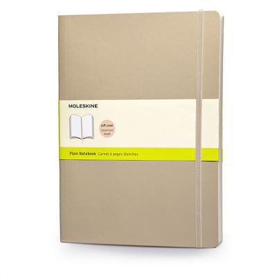 Moleskine Classic Colored Notebook, Extra Large, Plain, Khaki Beige, Soft Cover (7.5 x 10)