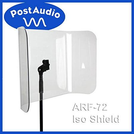 Standard Mic Stand (Post Audio ARF-72 NEWAcrylic Isolation Shield - Mounts On Standard Mic)