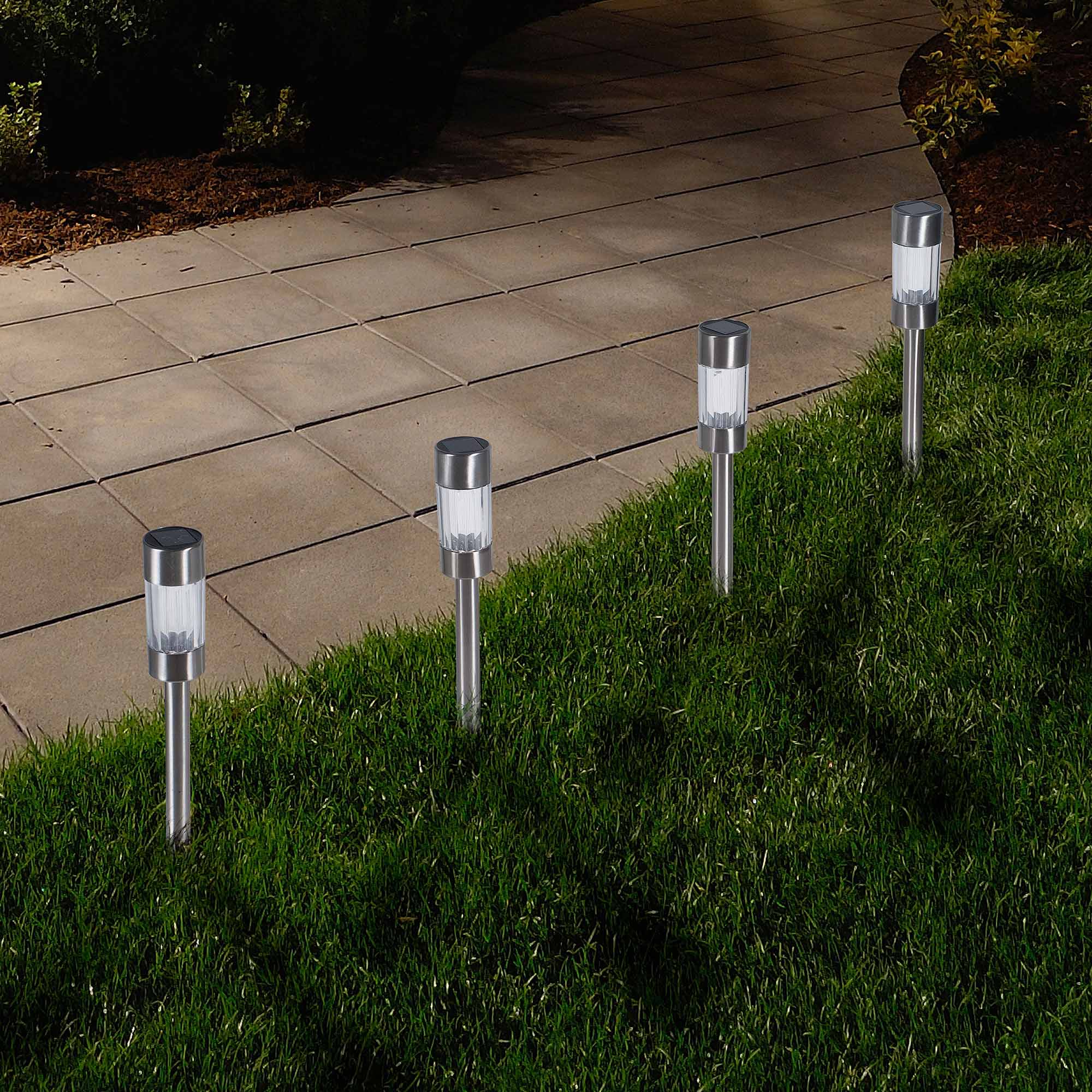 Pure Garden Outdoor Solar Yard Pathway Lights, 6pk