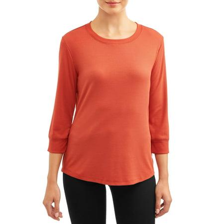 Women's 3/4 Sleeve Rib T-Shirt