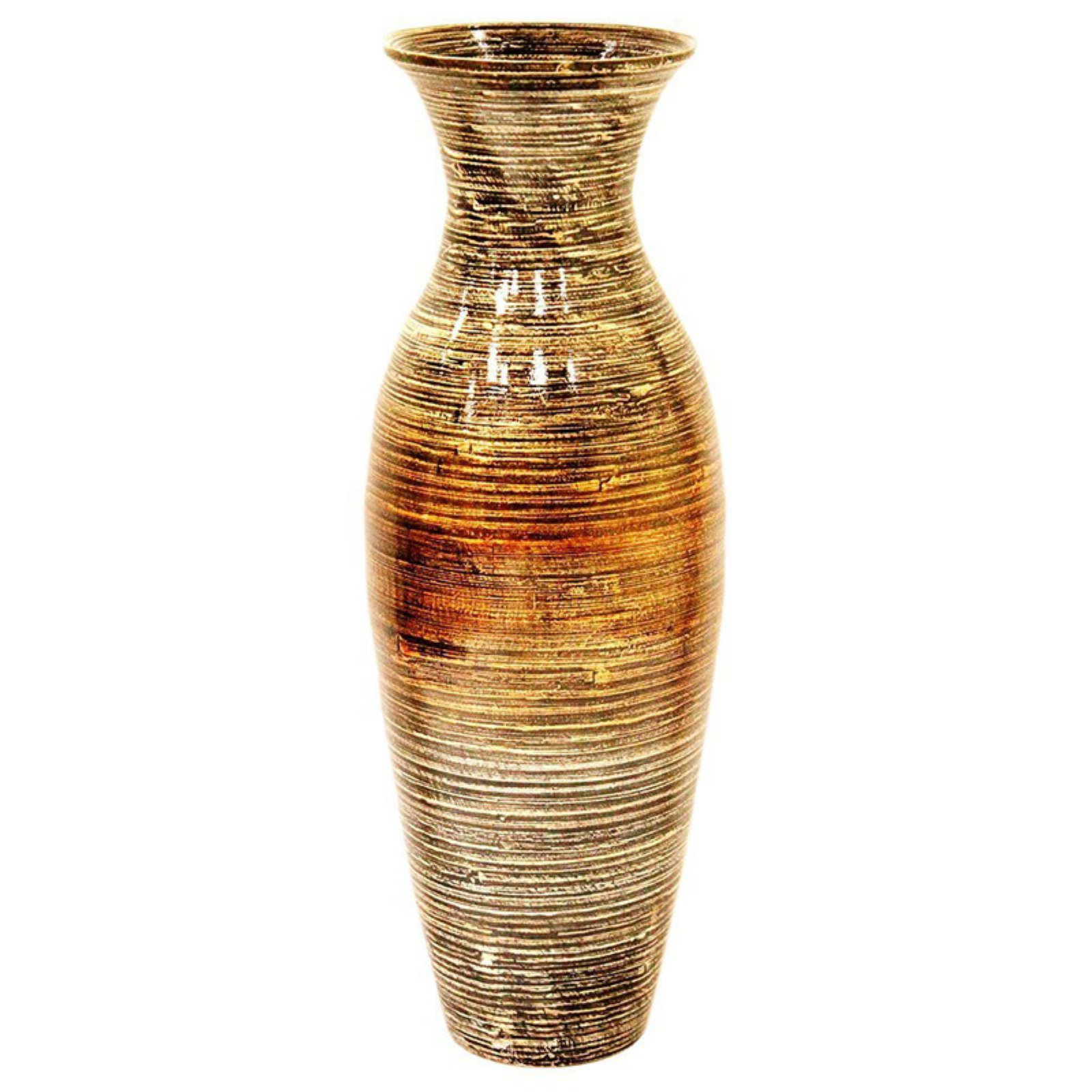 Heather Ann Creations Spun Bamboo Decorative Floor or Table Accent Vase