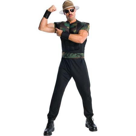 Adult WWE WWF Wrestling Sergeant Sargent Sgt. Slaughter Costume for $<!---->