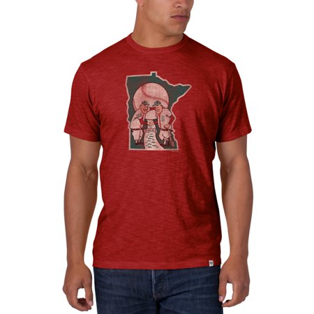 Minnesota Twins 47 Brand Rescue Red Alternate Logo Soft Cotton Scrum T-Shirt by
