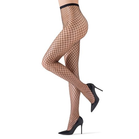 MeMoi Maxi Fishnet Tights | Sexy Premium Fishnet Stockings Small/Medium / Black MO 371