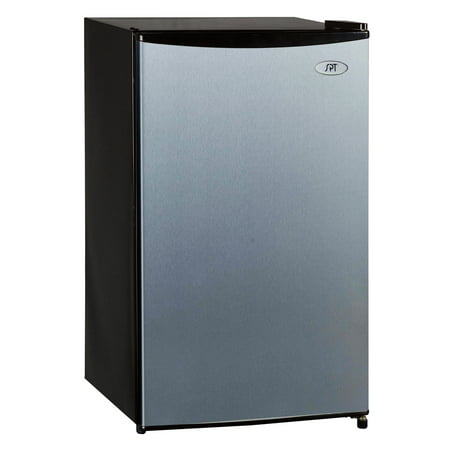 Sunpentown 3.3 cu ft Two Door Refrigerator, Stainless Steel