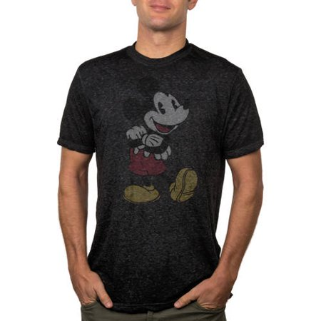 Men's Disney Mickey Mouse Classic Fashion Burn Out Graphic Tee - Mickey Mouse Cut Out
