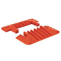 Guard Dog GDEC5X125-O Polyurethane Heavy Duty 5 Channel Cable Protector Male and Female End Caps