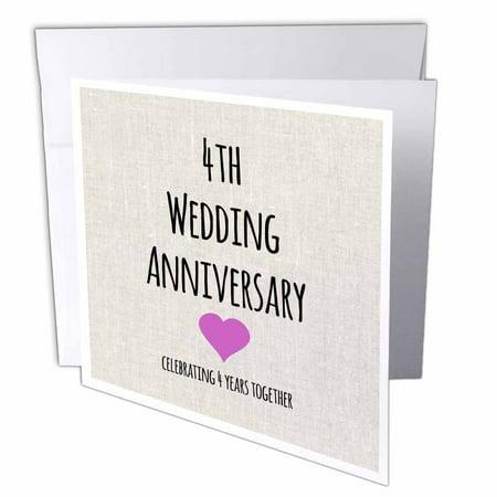 3dRose 4th Wedding Anniversary Gift