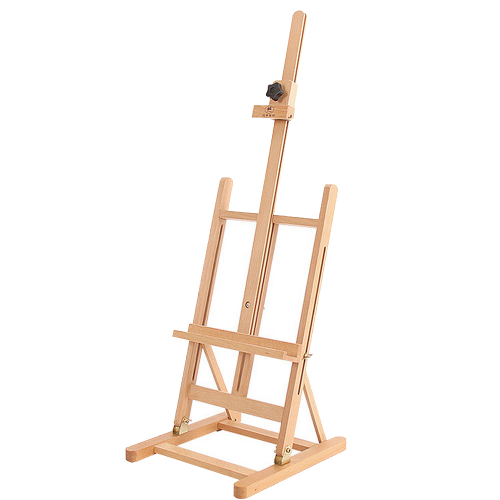 "Zimtown 42"" to 69"" Height Adjustable Easel Stand, Folding Portable Beechwood H Frame Deluxe Studio Easel, for Artist Drawing, for Studio Painting Display - image 2 of 9"