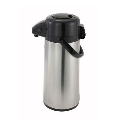 Airpot Glass Liner - Winco AP-525 Airpot, 2.5 liter, glass liner, push button, double wall insulated