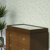 Novogratz Harper Baby Changing Table Dresser Topper, Walnut