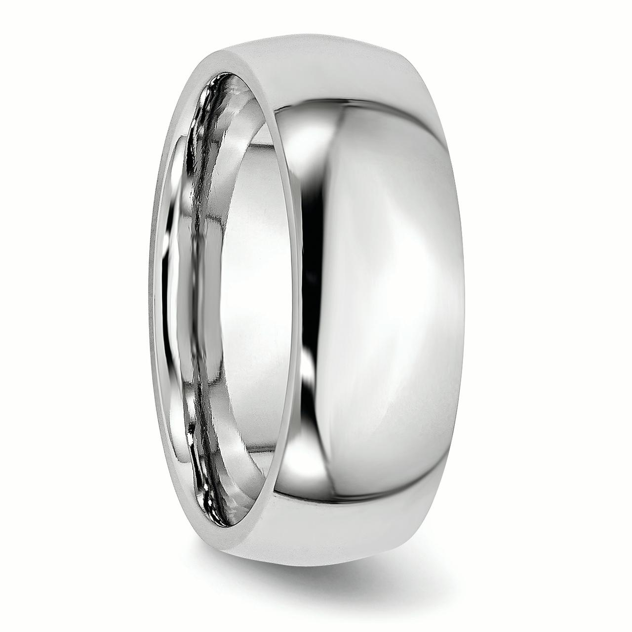 Cobalt 8mm Wedding Ring Band Size 10.50 Classic Domed Fashion Jewelry Gifts For Women For Her - image 4 de 6