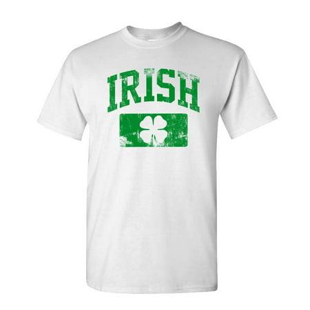 v2 DISTRESSED IRISH - st paddys patricks - Mens Cotton T-Shirt ()