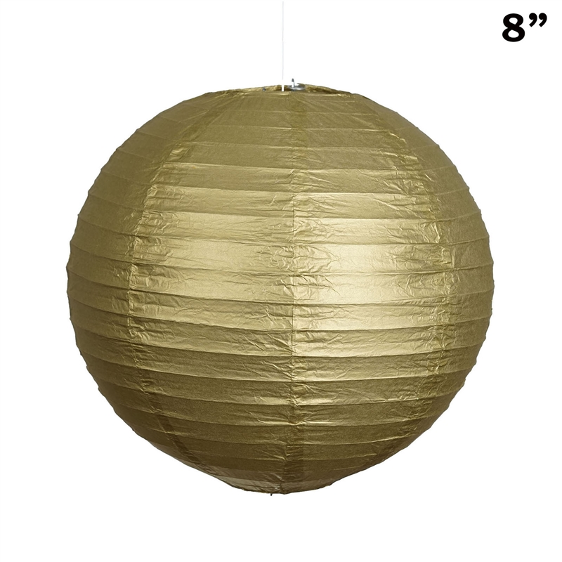 """BalsaCircle 12 pack 8"""" Paper Lanterns Lamp Shades Party Supplies - Party Wedding Event Home Room Decorations Supplies"""