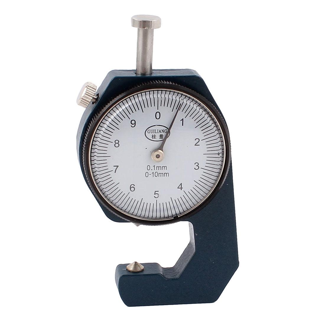 Unique Bargains 0-10mm x 0.1mm Precision Dial Indicator Handheld Thickness Gauge Measuring Tool by Unique-Bargains